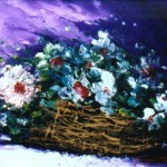 Basket in White Flowers