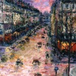 Parisian Sunset (detail)