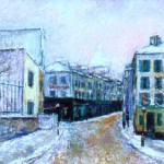 Rue Norvin under snow, Paris