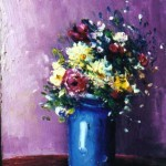 Bouquet in Blue Vase