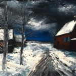Farmhouse under Snow 16x2024x3032x40