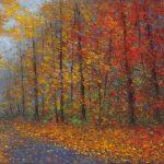 A Foggy Autumn Lane
